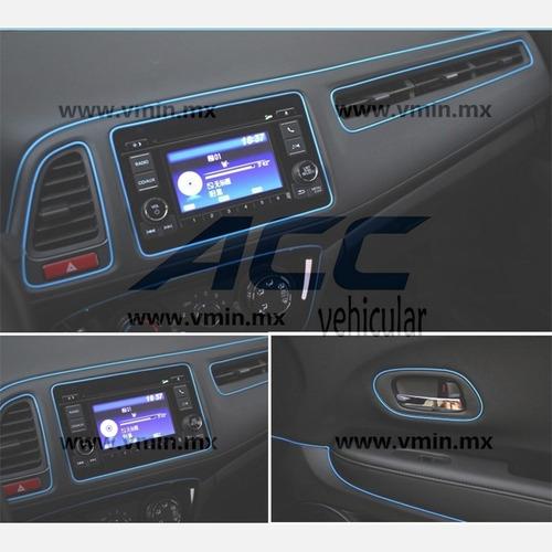 moldura vista decorativa brilla metálica auto interior 4.8m