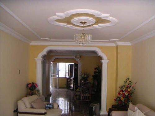 molduras de yeso, drywall y techos en escayola