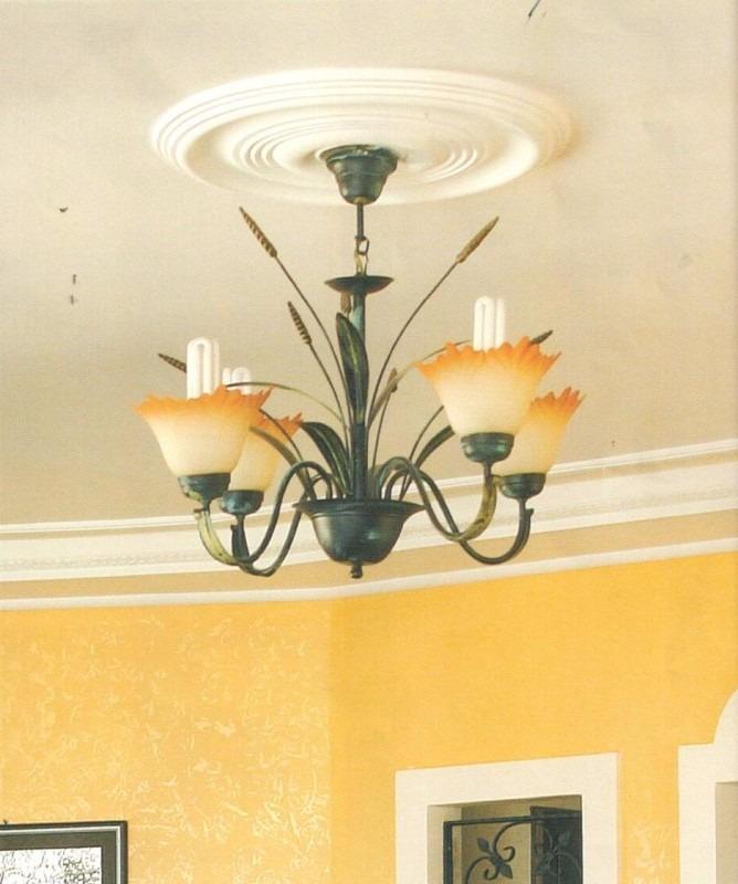 Molduras decorativas para techo rosetones para lampara bs 224 00 en mercado libre - Molduras decorativas pared ...