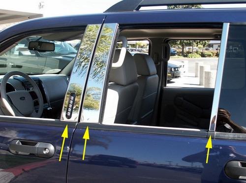 molduras pilar / poste en puerta ford explorer 2002 - 2010