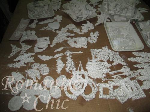 molduras -yeso .resina-decoracion -cajas-shabby vintage