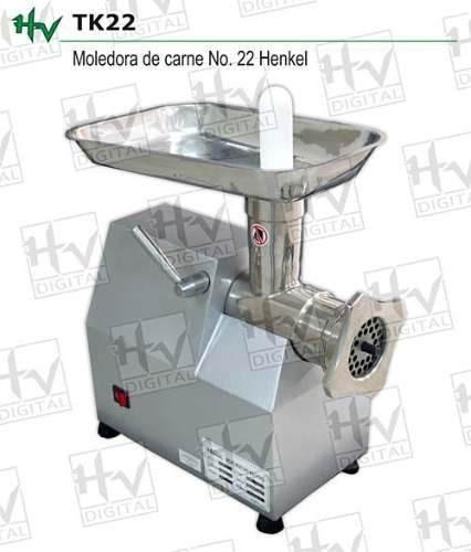 moledora de carne nueva henkel  acero 1.5 hp 250 kgrs x hora