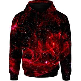 df18dd582 Blusa Moletom Bolso Capuz Tumblr Gorro Universo Galaxia Red