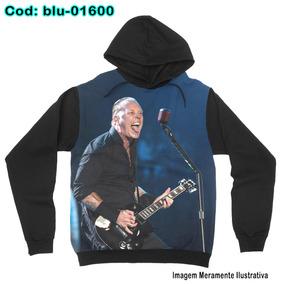 7a10d0f77 Blusa De Frio Moletom Unissex Metallica James Hetfield