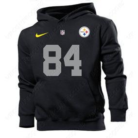 ec9bd0c9710d5 Blusa Moleton Casaco Pittsburgh Steelers 84 Brown Estampado