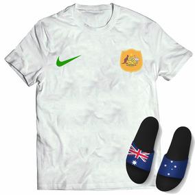 c1b99af056659 Kit Camisa + Chinelo Slide Seleção Austrália Copa Mundo 2018 · 3 cores