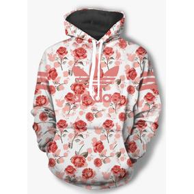 bec157ac6b3 Moletom Adidas Floral - Moletom Rosa claro no Mercado Livre Brasil