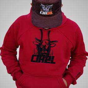 6b14dd5fd9f61 Moletom Vermelho Cia 2l Bulls Rodeio Country