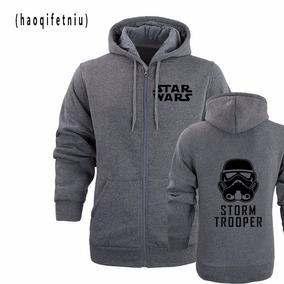 ba2511a7f Blusa Moletom Stars Stormtrooper Com Ziper Lançameto 2018