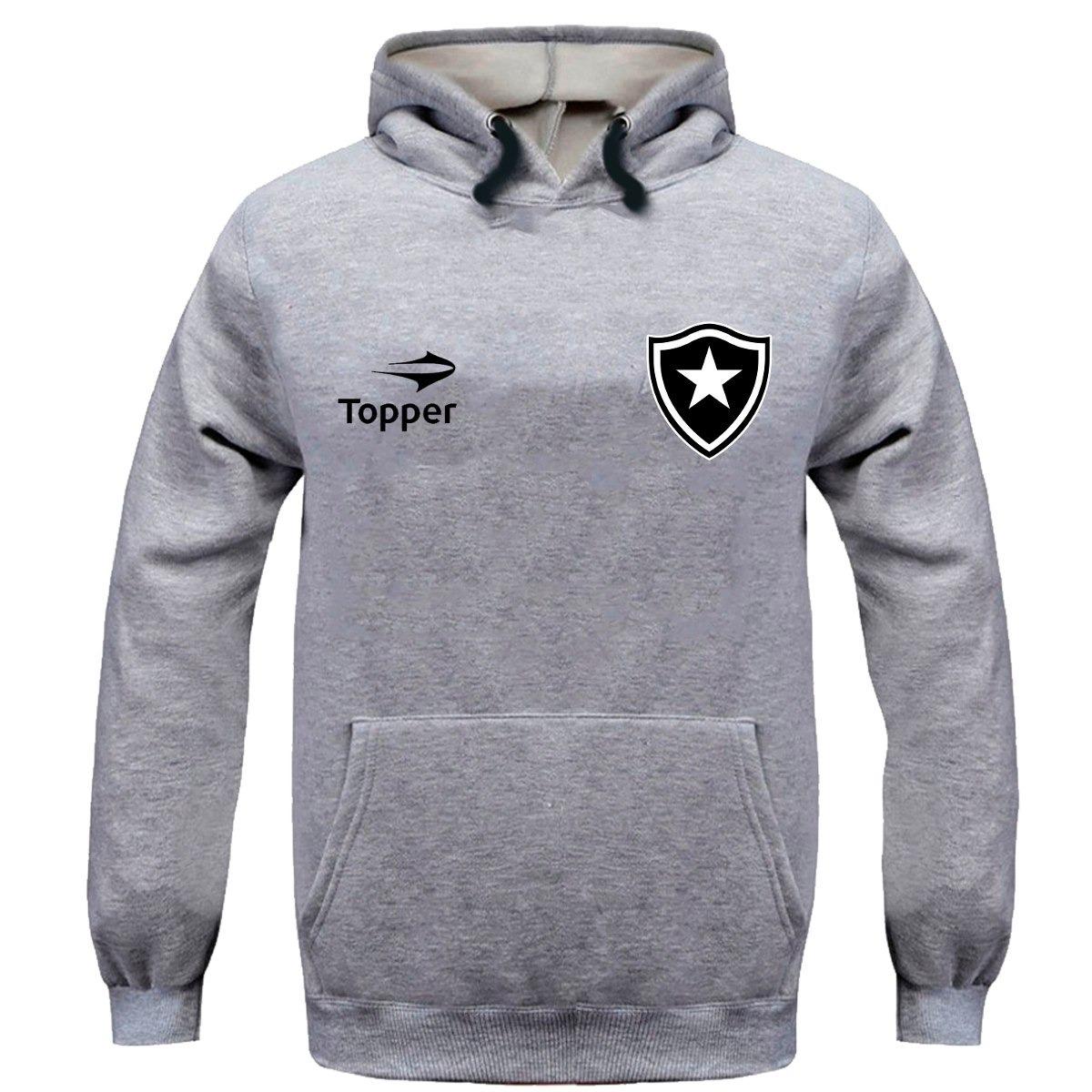 ace645f124 Moletom Blusa Botafogo Time Futebol Casaco Time - R  53