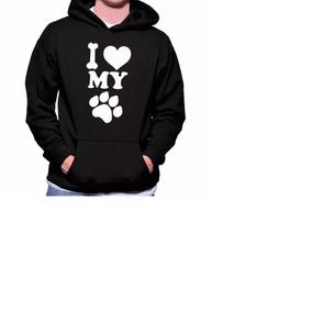 5563fd9d21 Moletom Blusa De Frio I Love My Dog Eu Amo Meu Cachorro Top