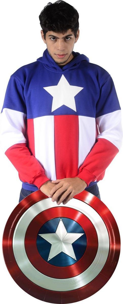 7daff595c moletom capitão america blusa super herois casaco capitão. Carregando zoom.