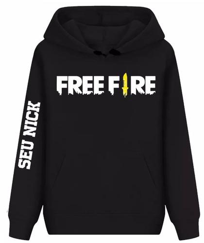 moletom free fire seu nick blusa de frio