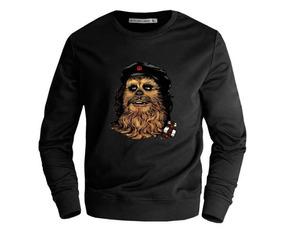 218319cebdf30b Moletom Gola Redonda Blusa Star War Chewbacca Chewie Unissex