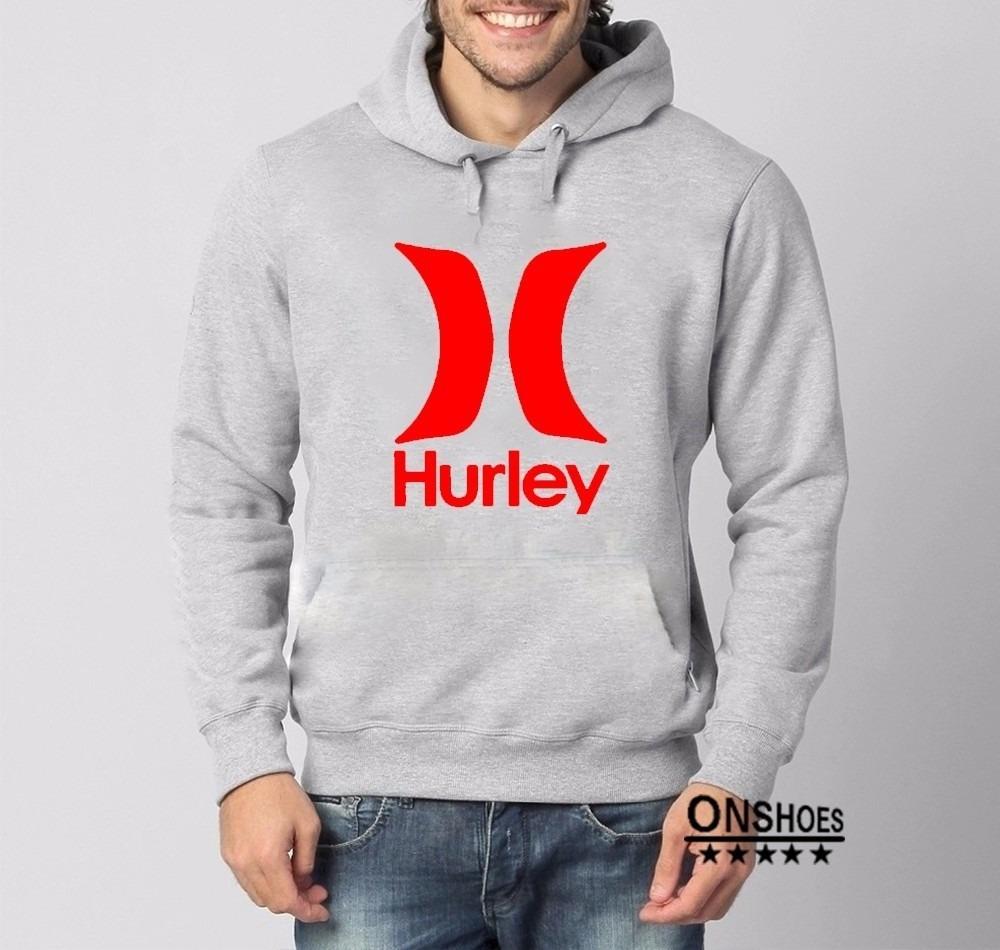 d7a0d1a432c6a Moletom Hurley Mod 3 Masculino Blusa De Frio Canguru - R  69