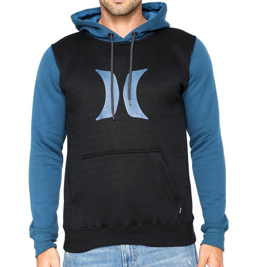 Moletom Hurley Simbol Preto azul - R  212 b642f198052