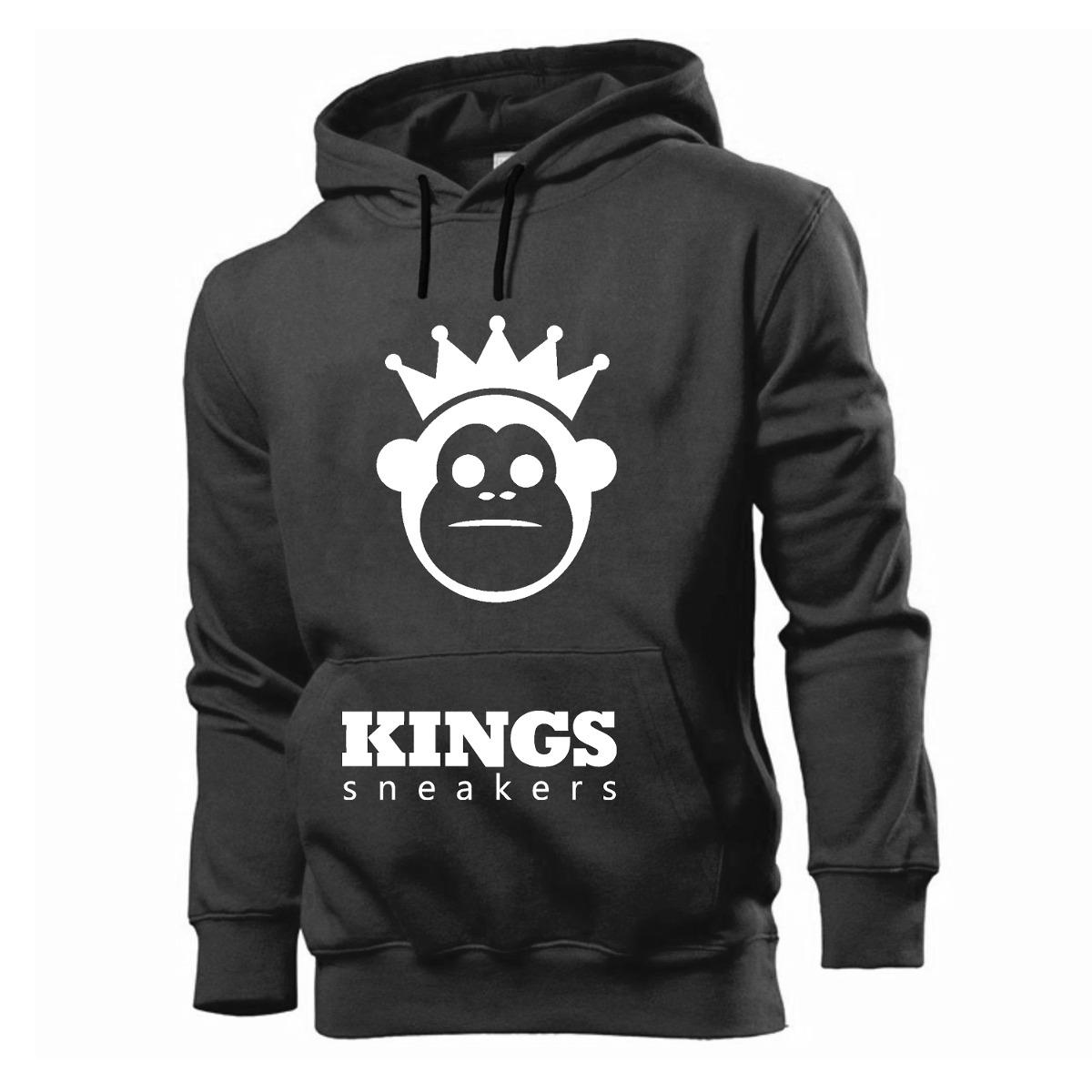 Moletom Kings Sneakers Skate Moda Bolsos Capuz 2019 - R  59 8d9904aee93