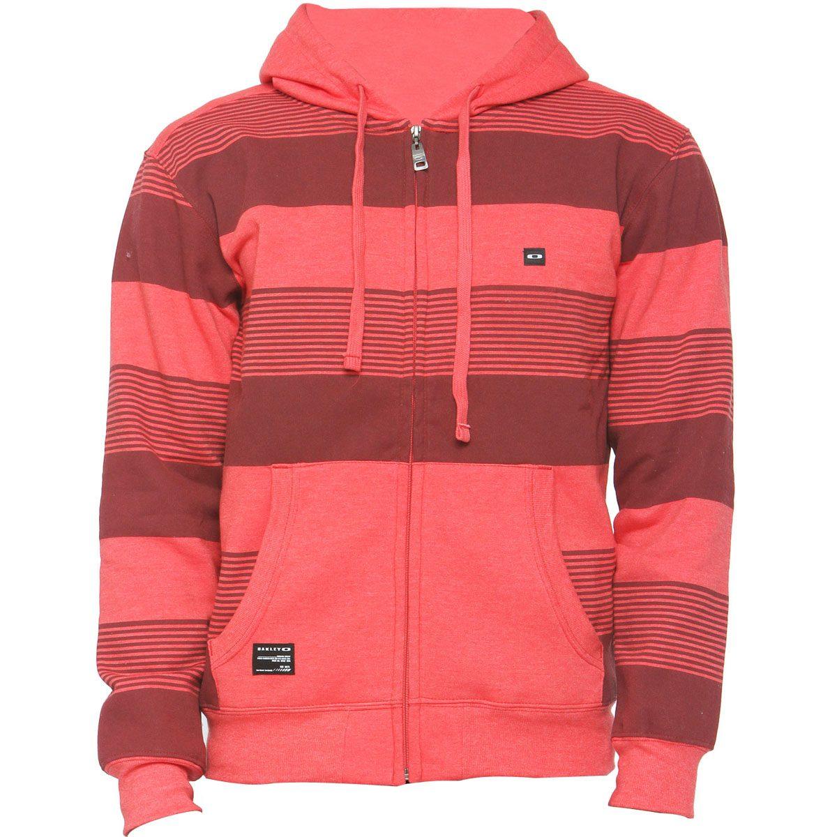 b5946ff5c1 moletom oakley striped fleece vermelho. Carregando zoom.
