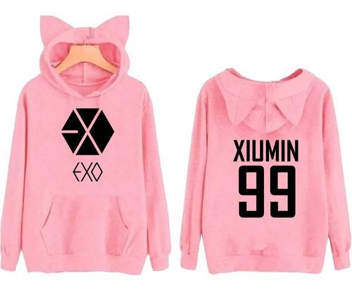 moletom orelhinha kpop exo xiumin 99 music pop blusa casaco