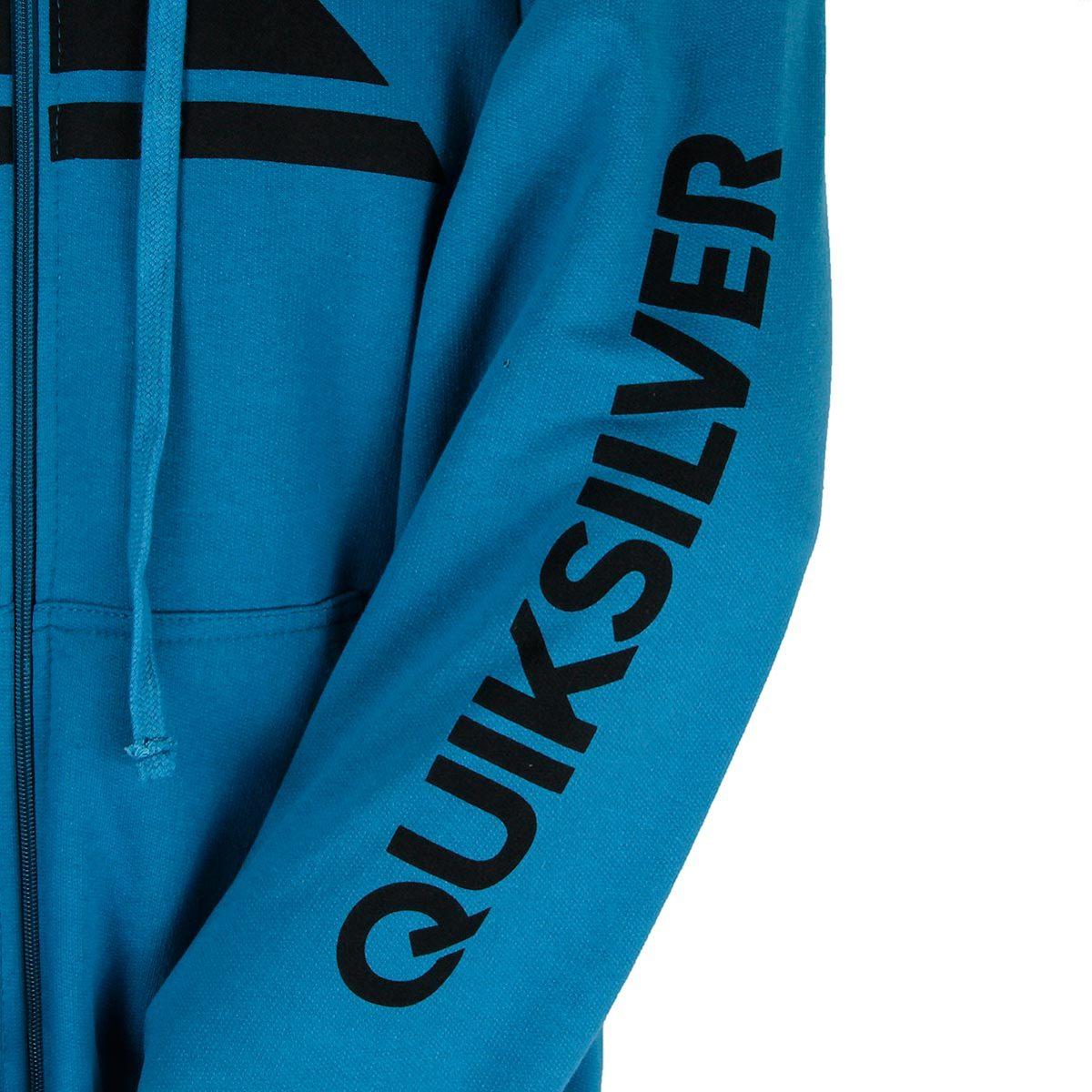 Moletom Quiksilver Aberto Letreiro - Azul - R  209,00 em Mercado Livre 95d496e265