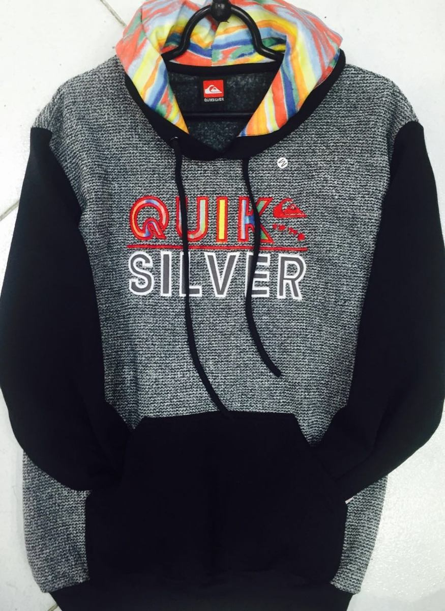 Blusa Frio Moletom Quiksilver 100% Original Quiksilver Surf - R  149 ... 38753268f1
