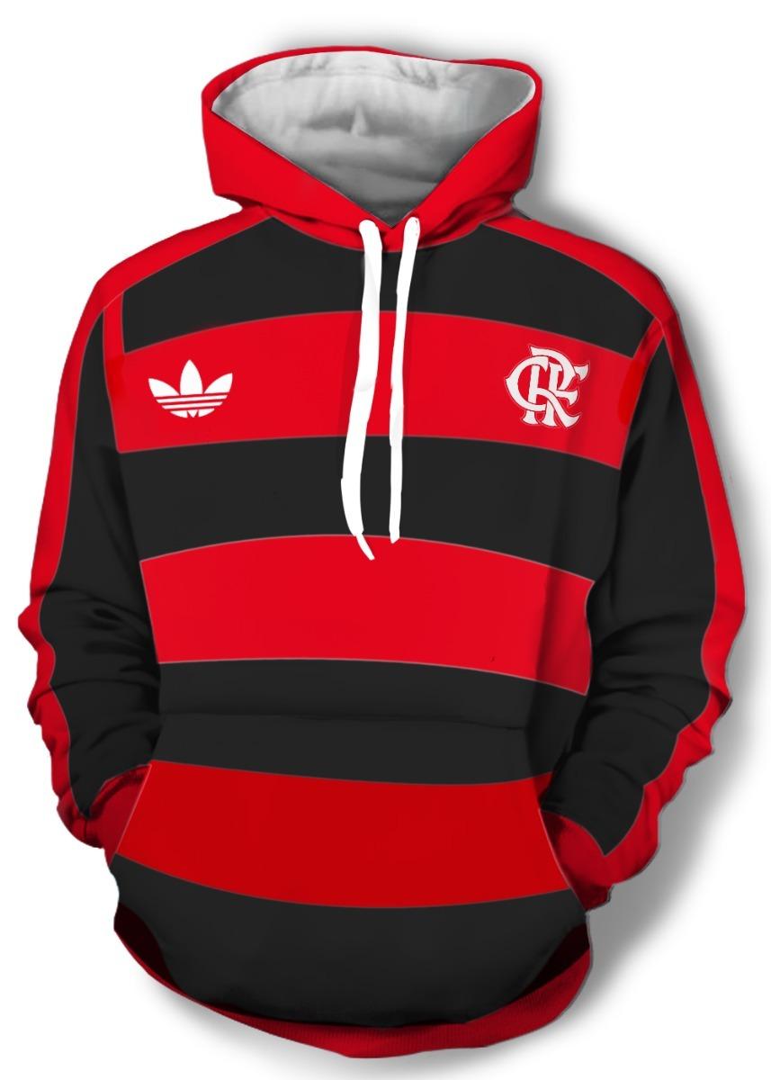 Moleton Rubro Negro Flamengo adidas - Frete Grátis - R  139 3cd817d716e17