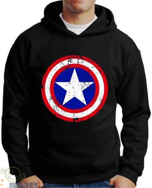 53b0d6a2e Moletons Super Heróis Capitão America Blusa Capitão America - R  99 ...