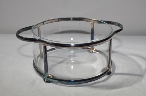 molheira de vidro e prata