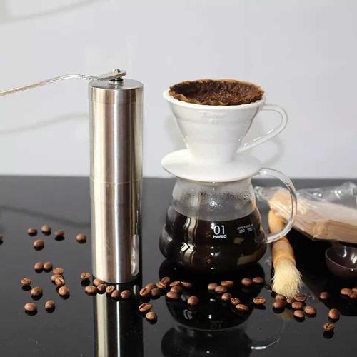 molinillo de café portable portatil viajero acero liviano