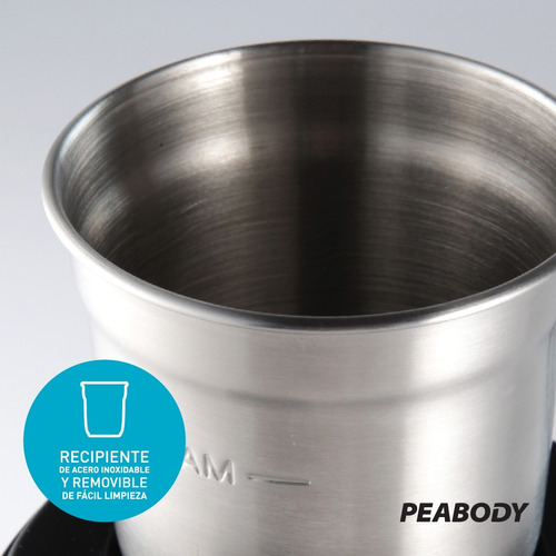 molinillo eléctrico café y semillas peabody pe-mc9100 full