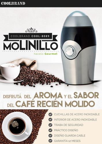 molinillo electrico coolbrand - 150w - inox - cafe y semilla