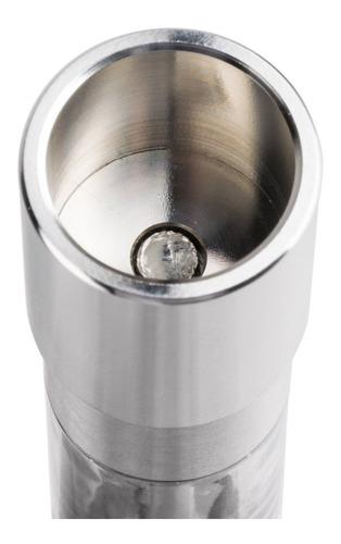 molinillo pimentero salero acero inoxidable boton y piston