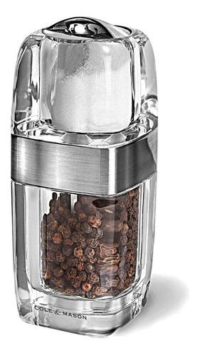 molinillo pimienta y salero acrilico cole & mason h57477p
