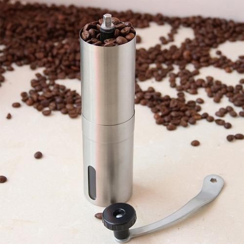 molino de acero inoxidable manual para cafe.
