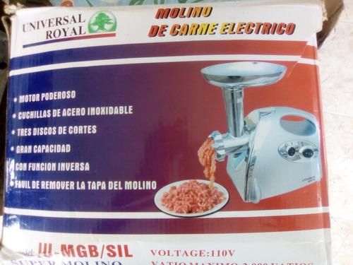 molino de carne eléctrico como nuevo