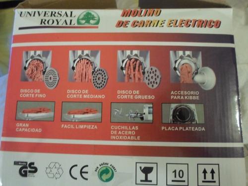 molino de carne electrico universal royal 2000w reversible