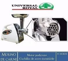molino de carne electrico universal royal nuevo reversible