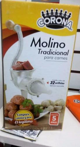 molino para moler carne marca corona original