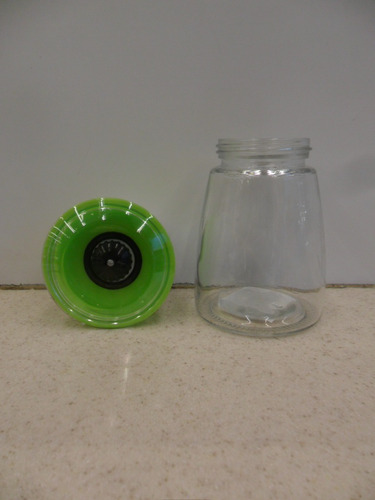 molino para pimienta/sal de vidrio 200 ml 2 pz