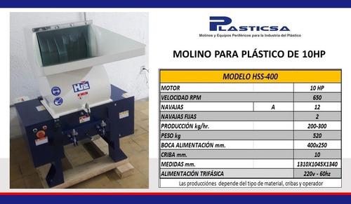 molino para plástico pet de 10hp plasticsa