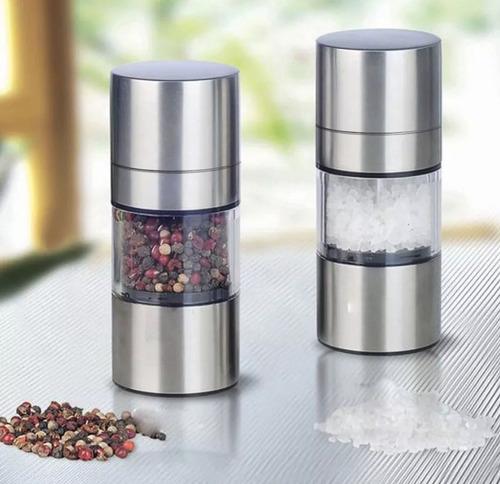 molino para sal pimienta manual regulable salero especias