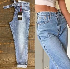 f7cac7430d11 Calça Jeans Vintage Cintura Alta - Calças Femininas com o Melhores Preços  no Mercado Livre Brasil