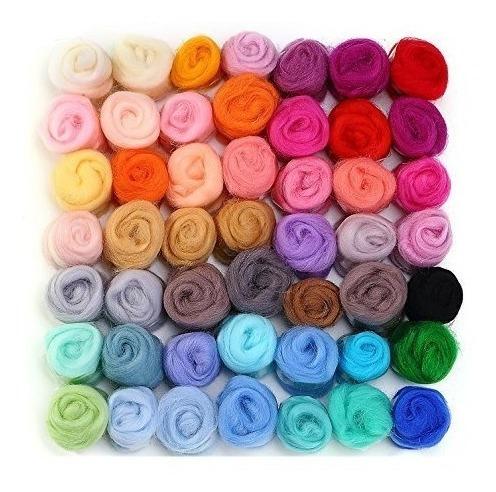 momoda 50 colores fieltro hilado de lana de lana de lana par