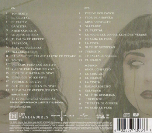 mon laferte volumen 1 uno - deluxe - disco cd + dvd - nuevo
