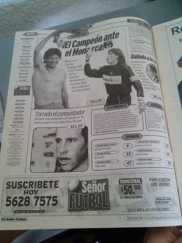 monarca o bicampeón final liguilla invierno 2000 sr. fútbol