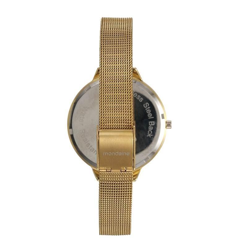 ba215c3f2ed mondaine kit relógio com semi joias dourado 53618lpmkde2k1. Carregando zoom.