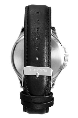 mondaine kit relógio e pulseira preto