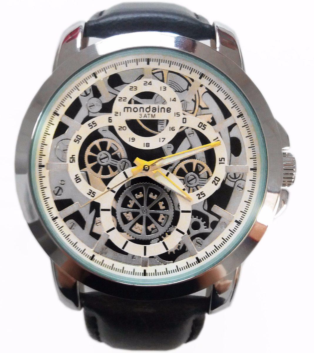 3cfbb09396c Relógio Mondaine 76424g0mvnh1 Grande Masculino 3atm Original - R ...