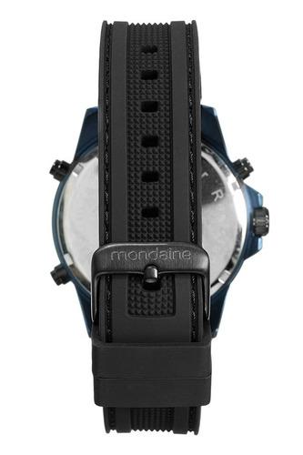mondaine relógio analógico e digital pulseira silicone preto