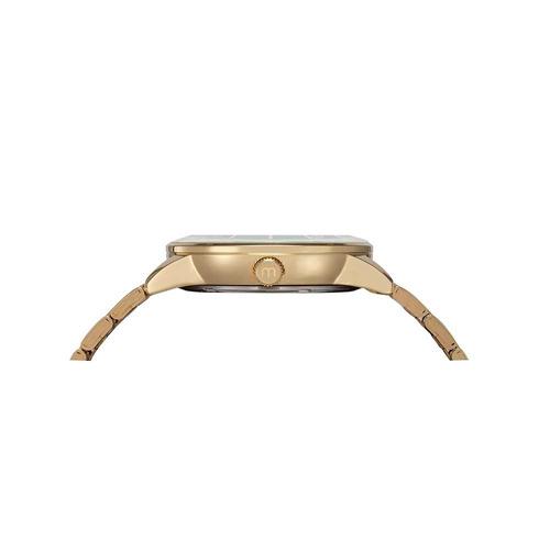 mondaine relógio glitter vidro facetado dourado